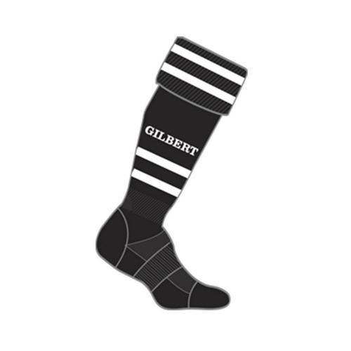 Chaussettes training Gilbert noir / blanc