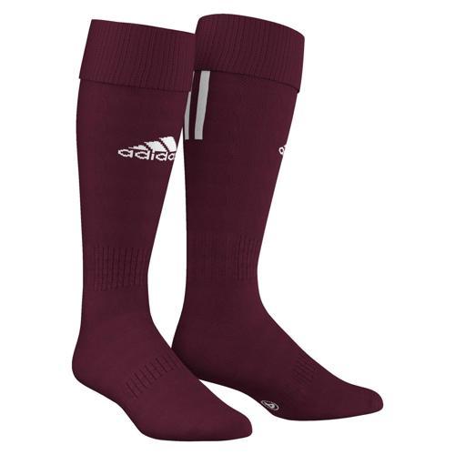 Chaussettes adidas SANTOS 3 STRIPES Maron/Blanc