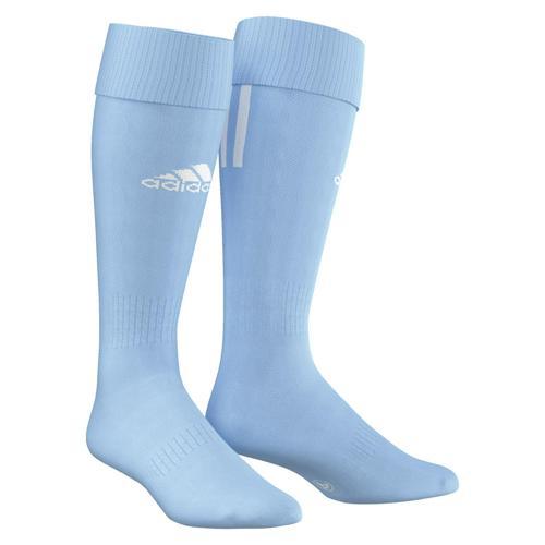 Chaussettes adidas SANTOS 3 STRIPES Ciel/Blanc