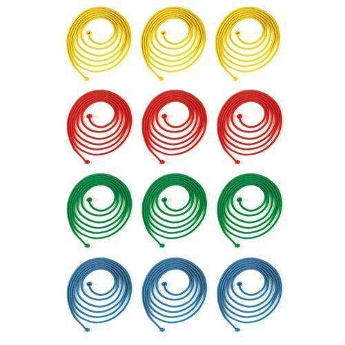 Lot 12 cordes à sauter de couleur