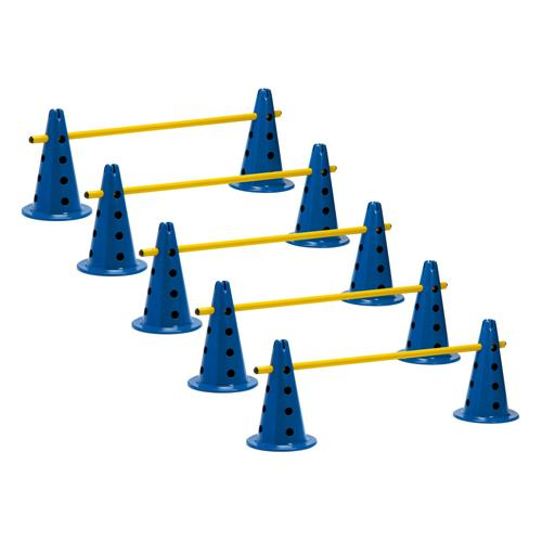 Lot de 5 mini-haies / cônes 35 cm multifonctions réglables en hauteur PRO
