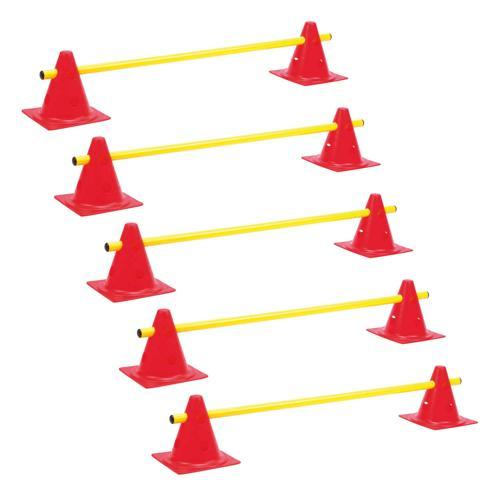 Lot de 5 mini-haies / cônes 18 cm multifonctions réglables en hauteur PRO