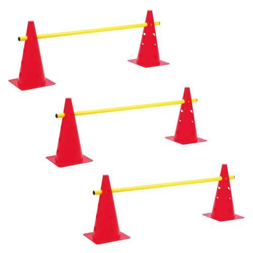 Lot de 3 mini-haies / cônes 35 cm multifonctions réglables en hauteur PRO