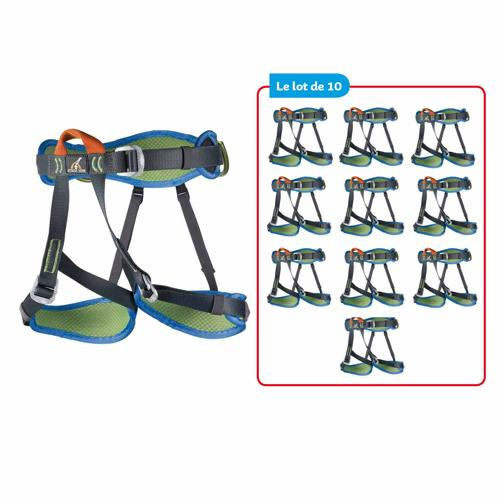 BAUDRIERS D'ESCALADE TOPAZ CAMP - LOT DE 10