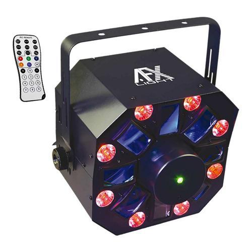 Effet de lumière DMX combiné à Led + wash + laser rouge et vert