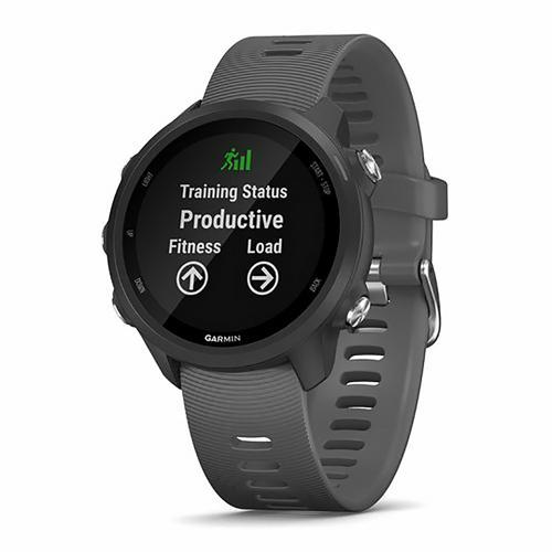 Montre de running - Garmin Forerunner 245 noire avec bracelet gris foncé