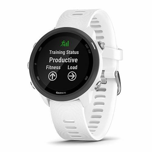 Montre de running - Garmin Forerunner 245 Music blanche avec bracelet blanc
