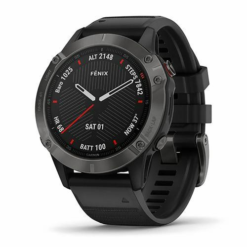 Montre - Garmin - Fenix 6 Sapphire carbon grey DLC avec bracelet noir