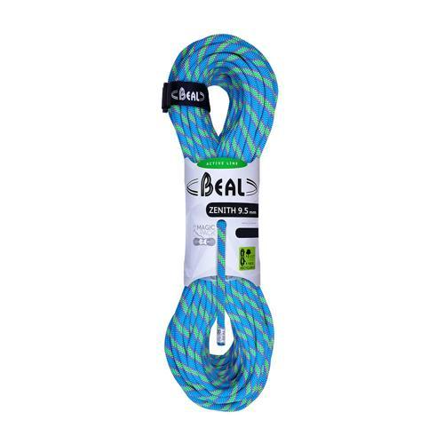 Corde Escalade Beal Zenith diamètre 9, 5mm et longueur 80m Bleu