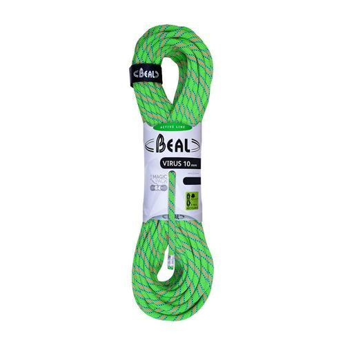 Corde Escalade Beal Virus diamètre 10mm et de longueur 80m Vert