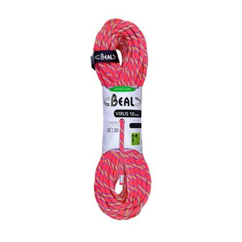 Corde Escalade Beal Virus diamètre 10mm et de longueur 70m Rose