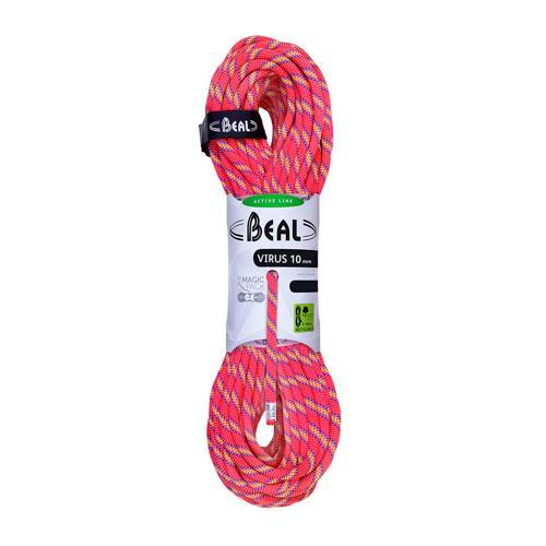 Corde Escalade Beal Virus diamètre 10mm et de longueur 80m Rose