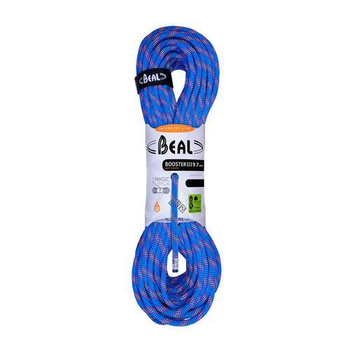 Corde Escalade Beal Booster III diamètre 9,7mm et de longueur 60m Bleu