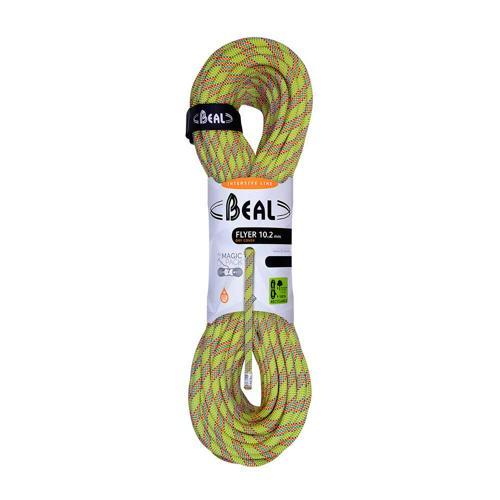 Corde Escalade Beal Flyer diamètre 10,2mm et de longueur 70m Anis
