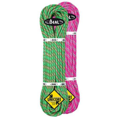 Corde d'alpinisme Beal Cobra II diamètre 8,6mm, longueur 2x50m Fuchsia-Vert