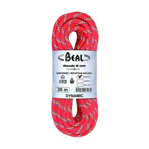 Corde de randonnée Beal Rando 8 diamètre 8 mm, longueur 30m Rose