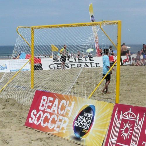 Paire de buts de beach soccer, transportables
