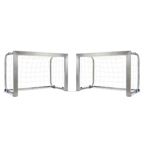 Paire de mini-buts Aluminium Football 1. 20 m x 0. 80 m