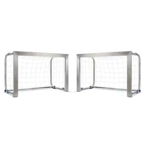 Paire de mini-buts Aluminium 1. 40 m x 1 m Football