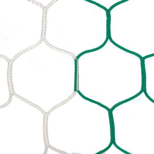 Filets pour buts de football à 11 bicolore vert blanc