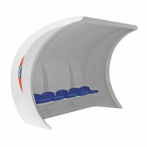 Abri de touche GES en composite assise coque