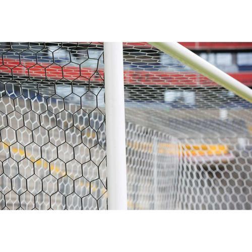Filets de buts foot à 11 en bi-faces télégéniques Blanc/Noir / La paire