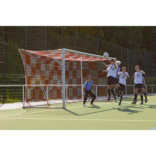 Filets de buts foot à 11 à damier bicolores européens / La paire