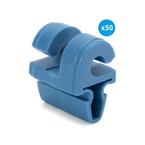 Sachet de 50 crochets bleus pour buts en aluminium, à cliper, filière de 7, 9mm