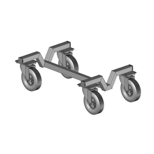 Chariot de transport pour un but de foot transportable