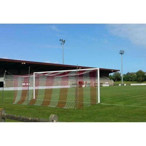 Filet de foot stade couleur (box) hexagonale 4mm - Blanc / Rouge (l'unité)