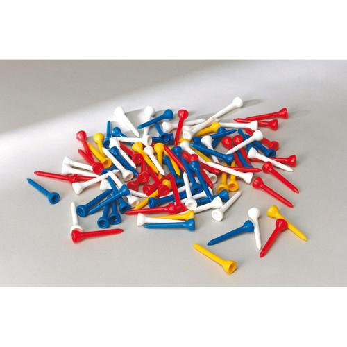 TEES DE GOLF PVC MULTICOLORES - LOT DE 100