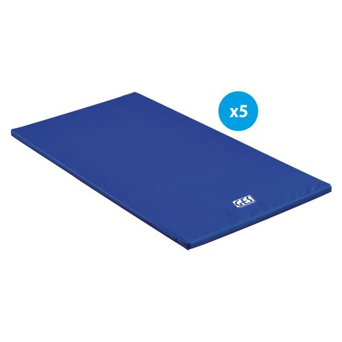 Lot de 5 tapis de gymnastique GES Essentials houssés 200 x 100 x 4 cm x 4CM