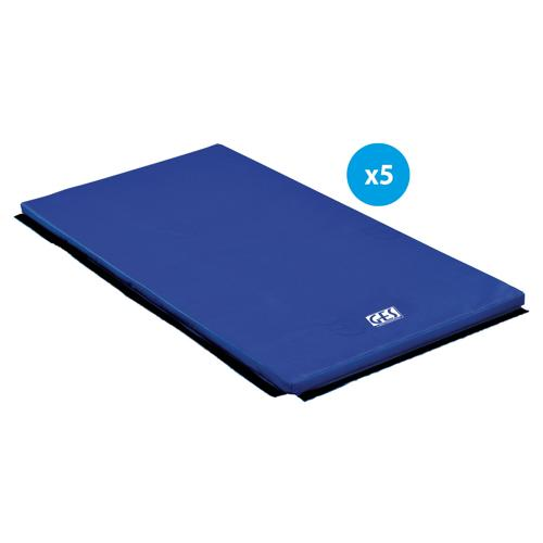 Lot de 5 tapis de gym associatifs GES Essentials de 200 x 100 x 4 cm