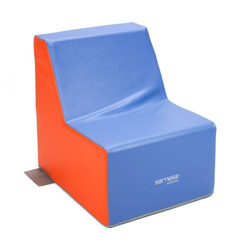 FAUTEUIL 1 PLACE BICOLORE hauteur de l'assise : 32cm