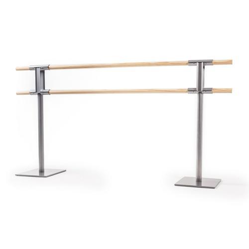 Ensemble de 2 poteaux de danse double sans roulette et 2 barres de 2m