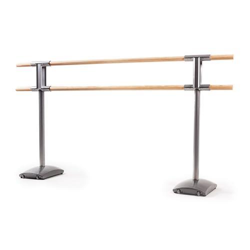 Ensemble de 2 poteaux de danse double avec roulettes et 2 barres de 2m