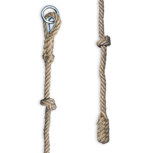 Corde à grimper à noeud 7m diamètre 22mm