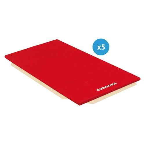 Lot de 5 tapis de gymnastique - Gymnova - associatifs houssés 200 x 100 x 5 cm