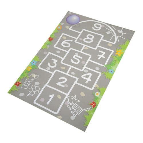 tapis de jeu : marelle 100x150cm