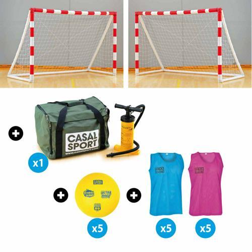 Pack école de handball avec paire de buts de mini-hand gonflables 240*170cm