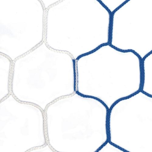 Filets de handball GES 4 mm maille de 100 mm hexagonale bicolore