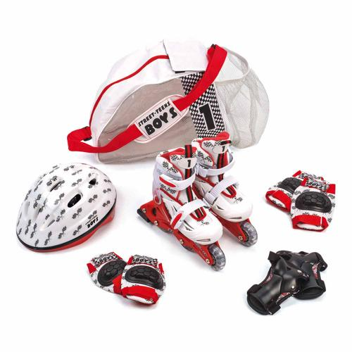 ROLLERS + CASQUE + PROTECTIONS D'INITIATION ROLLERS JUNIOR - LOT