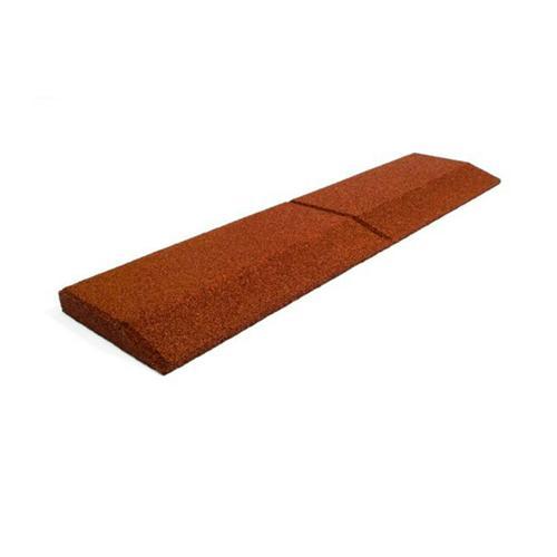 Pan coupé rouge 1000 x 250 mm, épaisseur 60 mm