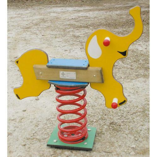 BALANCOIRE EXTERIEURE SUR RESSORT ELEPHANT