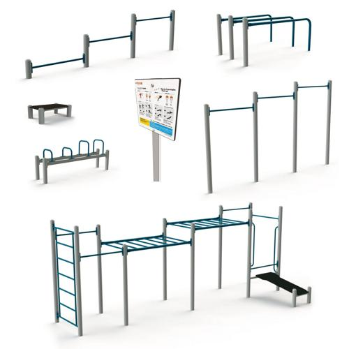 Pack 6 modules de street workout