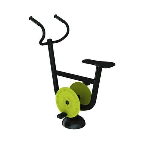 Vélo droit fitness extérieur