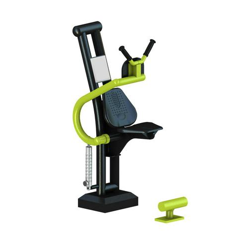 Crunch machine à piston fitness extérieur