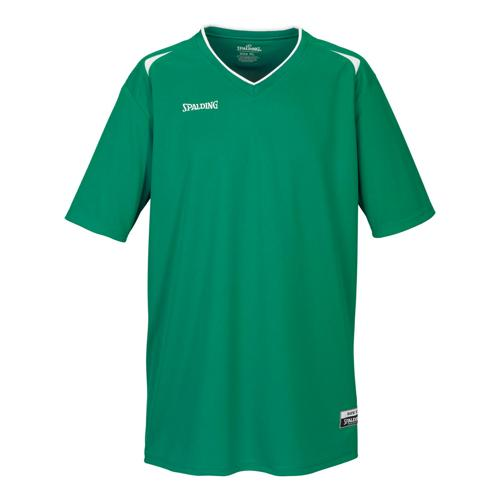 Shooting-shirt Spalding Attack adulte vert  / blanc
