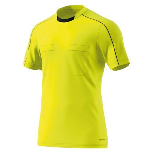 Maillot d'arbitre adidas jaune manches courtes