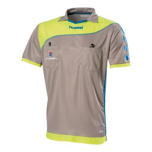 Maillot d'arbitre FFHB Hummel gris - jaune - bleu